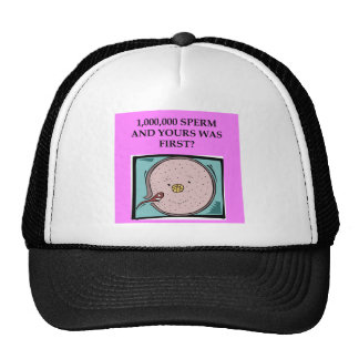 lucky sperm insult hats