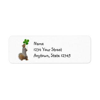 Lucky Squirrel Return Address Labels