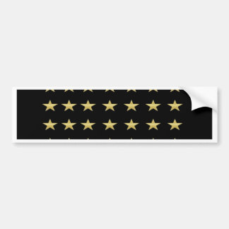 Lucky Stars Black With Gold Stars Design Bumper Sticker