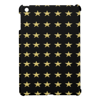 Lucky Stars Black With Gold Stars Design iPad Mini Cases