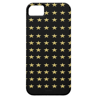Lucky Stars Black With Gold Stars Design iPhone 5 Cover