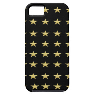 Lucky Stars Black With Gold Stars Design iPhone 5 Covers