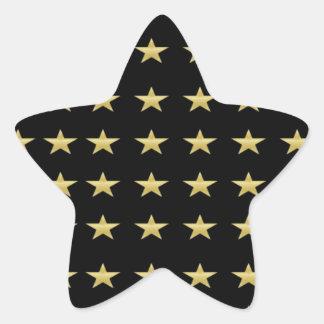 Lucky Stars Black With Gold Stars Design Star Sticker