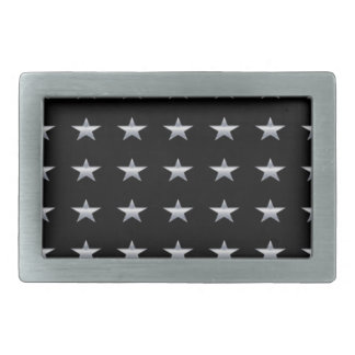 Lucky Stars Black With Silver Stars Design Belt Buckles