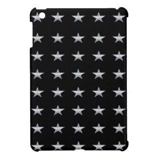 Lucky Stars Black With Silver Stars Design iPad Mini Cover