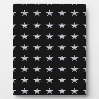 Lucky Stars Black With Silver Stars Design Plaque