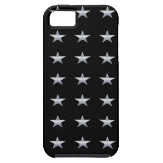 Lucky Stars Black With Silver Stars Design Tough iPhone 5 Case