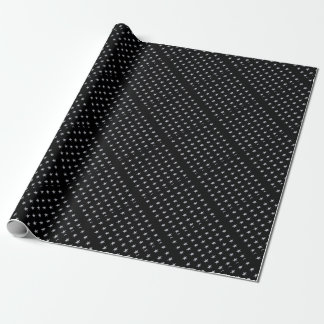 Lucky Stars Black With Silver Stars Design Wrapping Paper