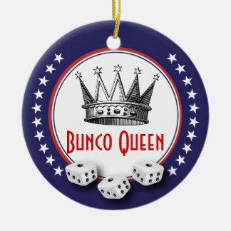 Lucky Stars Bunco Queen Ceramic Ornament