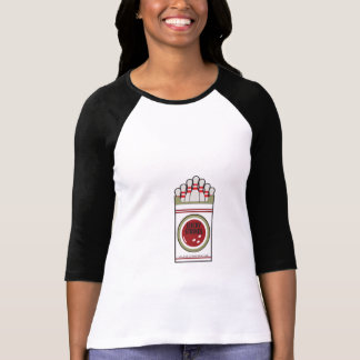 """Lucky Strikes"" Bowling Raglan Shirt (Women's)"