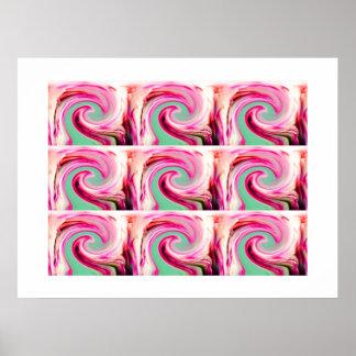 Lucky swirls poster