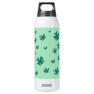 Lucky Three-Dimensional Four-Leaf Clovers 16 Oz Insulated SIGG Thermos Water Bottle