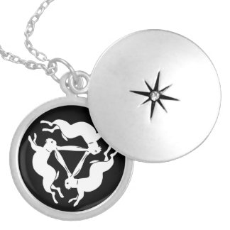 Lucky Tinner's Rabbit - White Hare Silver Plated Necklace