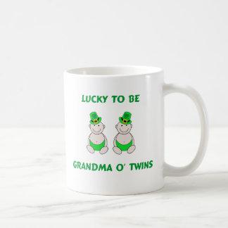 Lucky To Be Grandma O' Twins Coffee Mug
