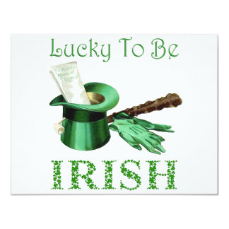 LUCKY TO BE IRISH PERSONALIZED INVITATION