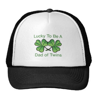 Lucky To Be Twin Dad Cap