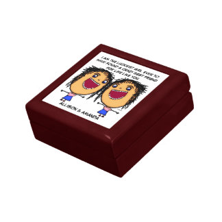 Lucky To Have You Best Friend Cartoon Gift Box