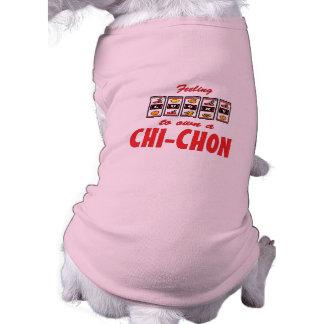 Lucky to Own a Chi-Chon Fun Dog Design Pet T-shirt