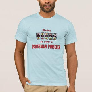 Lucky to Own a Doberman Pinscher Fun Dog Design T-Shirt