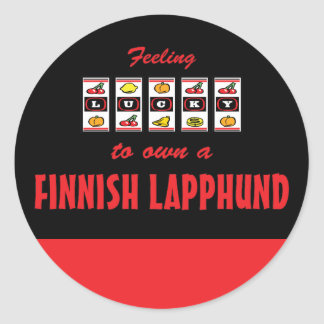 Lucky to Own a Finnish Lapphund Fun Dog Design Classic Round Sticker