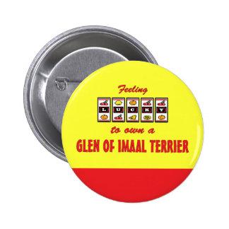 Lucky to Own a Glen of Imaal Terrier Fun Design Buttons
