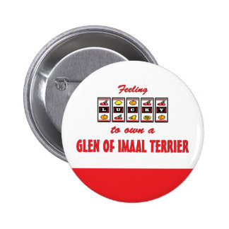 Lucky to Own a Glen of Imaal Terrier Fun Design Button