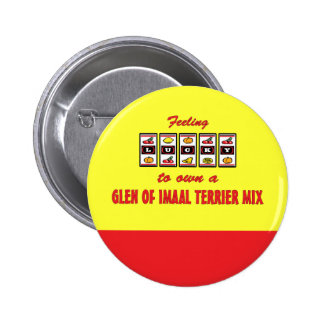 Lucky to Own a Glen of Imaal Terrier Mix Pinback Button