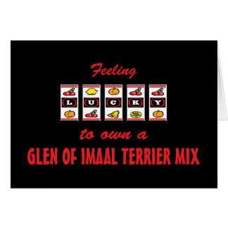 Lucky to Own a Glen of Imaal Terrier Mix Greeting Card