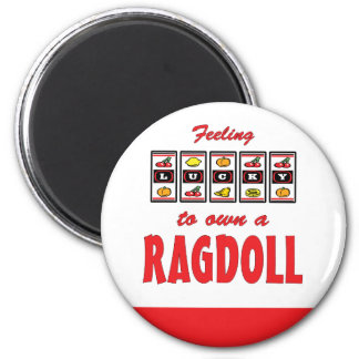 Lucky to Own a Ragdoll Fun Cat Design Magnet