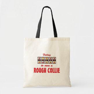 Lucky to Own a Rough Collie Fun Dog Design Bag