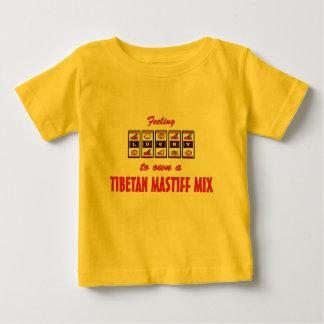Lucky to Own a Tibetan Mastiff Mix Fun Dog Design Baby T-Shirt
