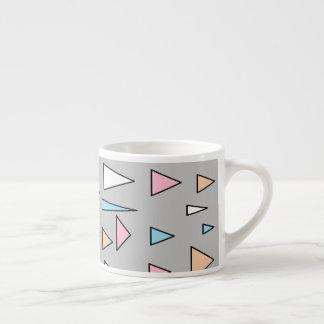 Lucky Triangles Pastel Colors Espresso Mug