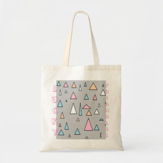Lucky Triangles Pastel Colors Tote Bag