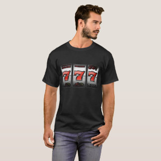 Lucky Triple Sevens on Slot Machine T-Shirt