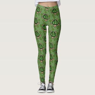 Lucky Turtle Leggings- Green Leggings
