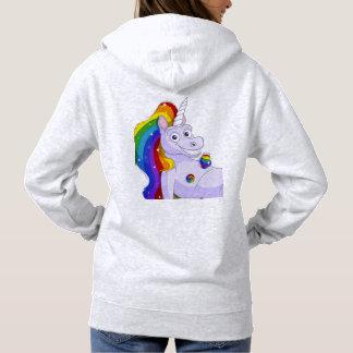 Lucky unicorn nipples hoodie
