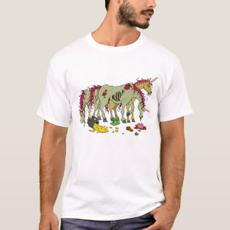 Lucky Unicorn Zombies T Shirt