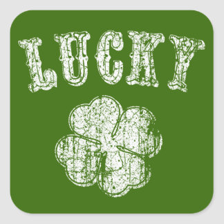 Lucky -vint stickers