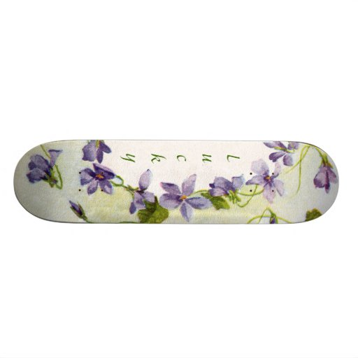 Lucky Vintage Floral Sissy Girly Skateboard