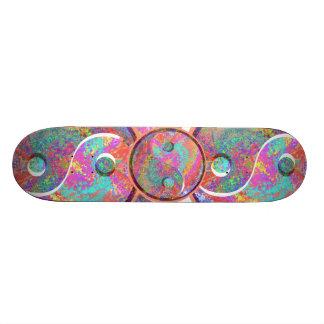 LUCKY YIN YANG YINYANG:  by Naveen 19.7 Cm Skateboard Deck