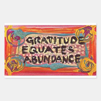 LuckyPen Gratitude Rectangular Sticker