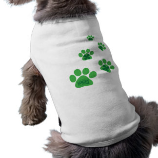 LuckyPup Paw Prints Sleeveless Dog Shirt