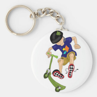 Lucky's Scooter Co. Basic Round Button Key Ring