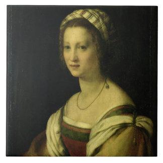 Lucrezia di Baccio del Fede, the Artist's Wife, c. Ceramic Tiles