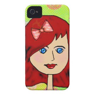lucy girl cartoon character art iPhone 4 cases