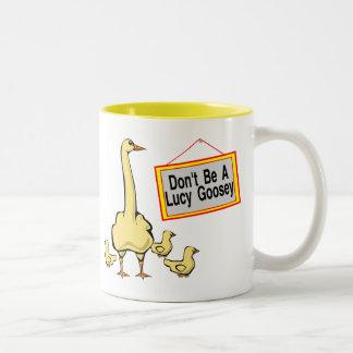 Lucy Goosey Two-Tone Coffee Mug
