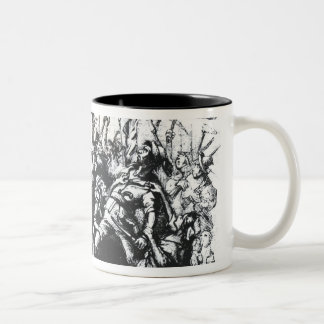 Luddite Rioters Two-Tone Coffee Mug