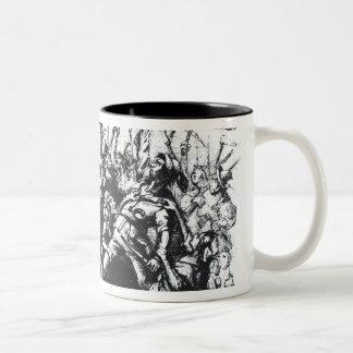 Luddite Rioters Two-Tone Mug