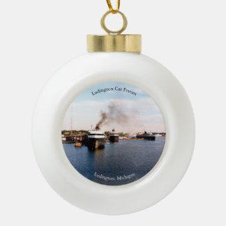 Ludington Car Ferries ball or snowflake ornament