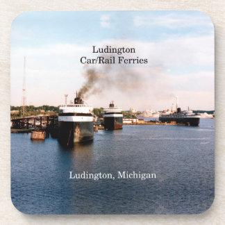 Ludington Car/Rail Ferries 6 plastic coasters
